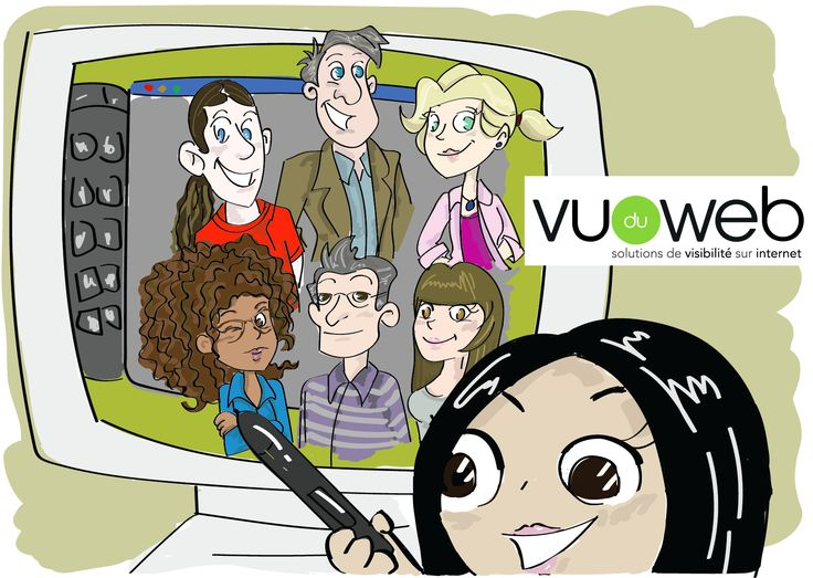 L'équipe de Vu du Web, vue par Huiwen FANG