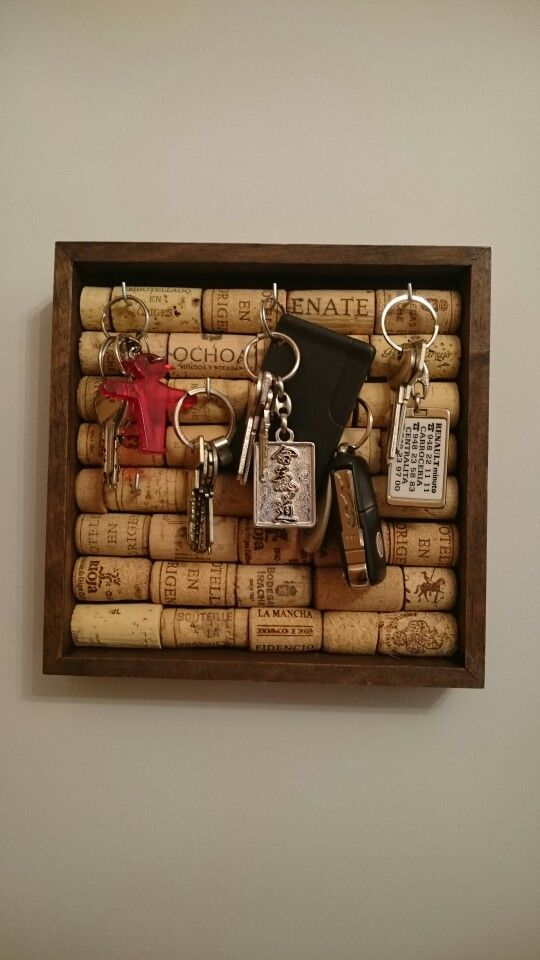 Porta llaves con corcho - Cork key keeper