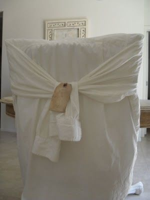 White Long Sleeved Shirts Turned Chair Slips...u003c3u003c