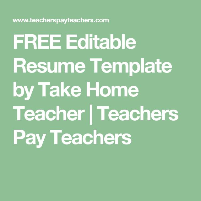 The 25+ best Teacher resume template ideas on Pinterest Resumes - fill in resume template