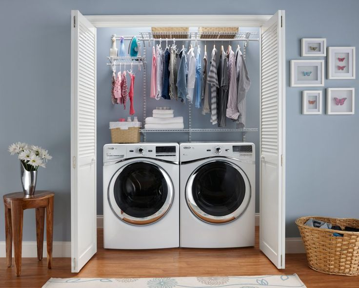 More Rooms : Place Laundry Room Closet Ideas Choose Matching Bins From  Office Supply Store Looking
