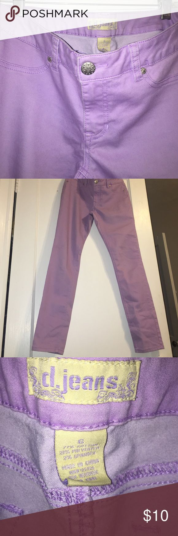 Lavender jeans - juniors , hits at the ankle Cute lavender jeans from D.Jeans, size 6 juniors, 77% cotton , 21% polyester, 2% spandex d. jeans Pants