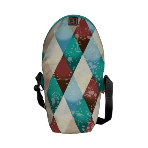 Abstract retro background courier #bag by PinkHurricane #Zazzle store :)