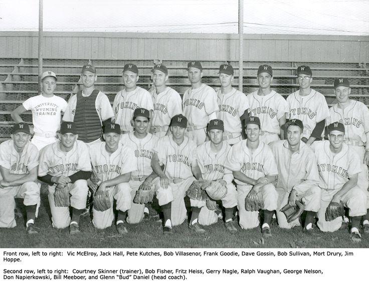 1956 Cowboy Baseball Team - University of Wyoming Athletics Hall of Fame