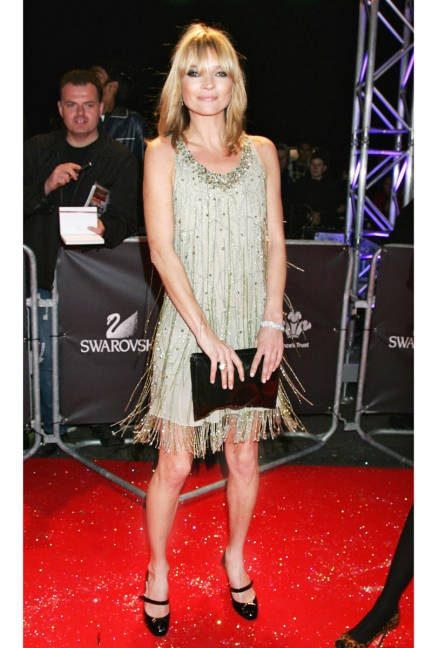 Moss in 1920s-inspired Topshop dress