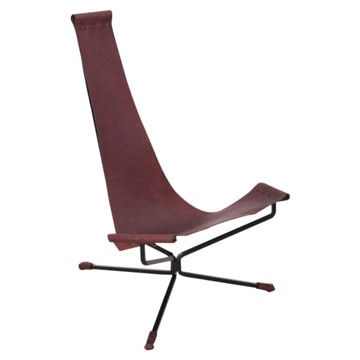 Wonderful Bloomberry / Dan Wenger Lotus Chair In Leather And Metal