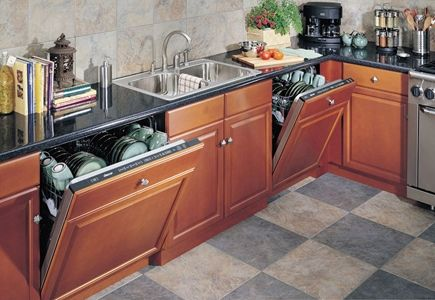 """24-inch-and-30-inch-built-in-dishwashers. The 30"""" can wash an entire 20 piece place setting at one time. The other is good for singles, who use less dishes, or at a bar, to wash a small load."""