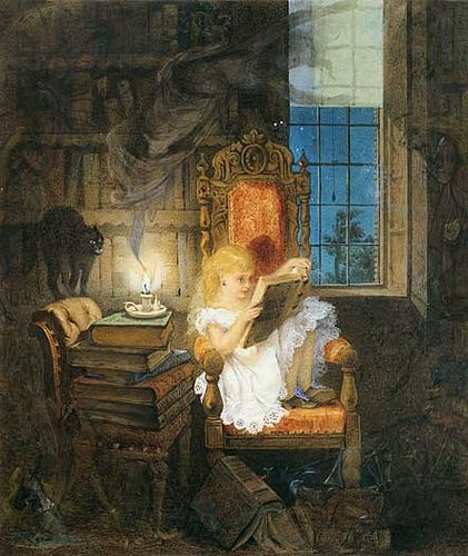 love!!  Adelaide Claxton, Wonderland, 1860s-70sLittle Girls, Arabian Night, Reading, Alice In Wonderland, Adelaide Claxton, Art, Book, Aliceinwonderland, Young Girls