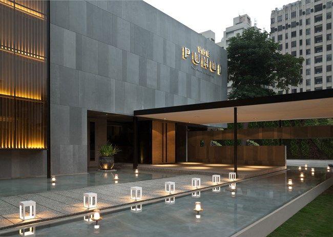 280 best entrance images on pinterest facades for Hotel entrance design