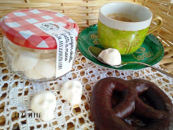 Mini Teschi di zucchero dia de los muertos Festa dei morti - sugar skulls - halloween - calaveritas de azucar - frida kahlo - calaveras - catrina