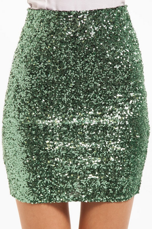 Sequin Pencil Skirt- I'm into glitter skirts right now!