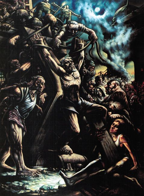 Andrew: Portrait of a Saint - Crucifixion of Saint Andrew by Peter Howson