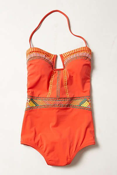 Anthropologie - Nanette Lepore Riviera Goddess Maillot......my new suit for the summer!