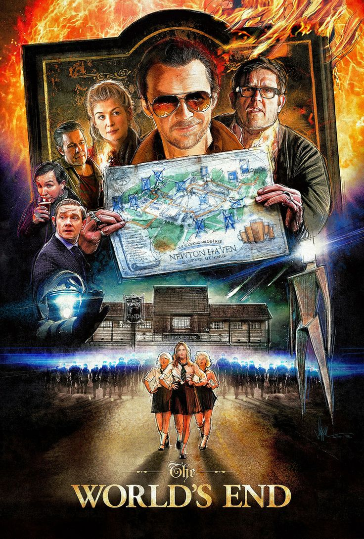 The World's End An Illustrated Film Poster Awesome