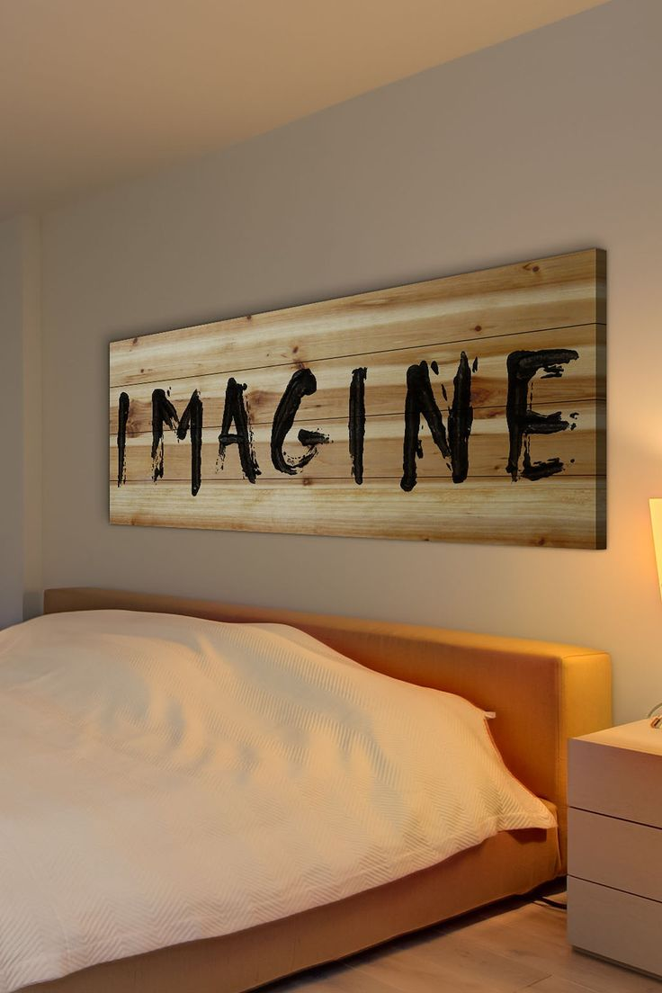Imagine Brown Distressed Wood Wall Art by Marmont Hill Inc. on @HauteLook
