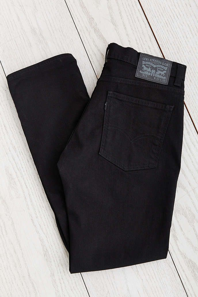 Levis 511 Black Stretch 3D Slim Jean - Urban Outfitters
