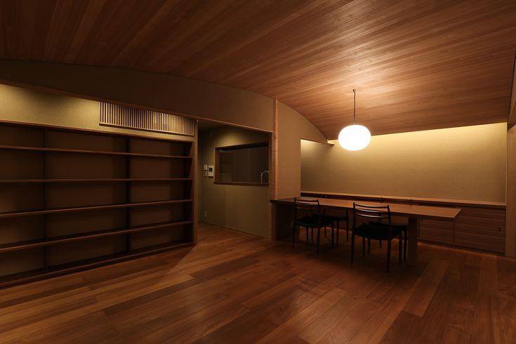 アール天井|リビング空間|マンションリノベーション京都