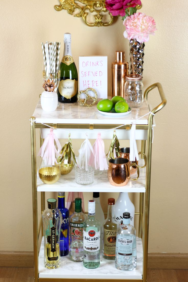 IKEA Hack: Gold & Marmor Barwagen   IKEA Hack: Gold & Marble Bar Cart, by Twinspiration: <a href=