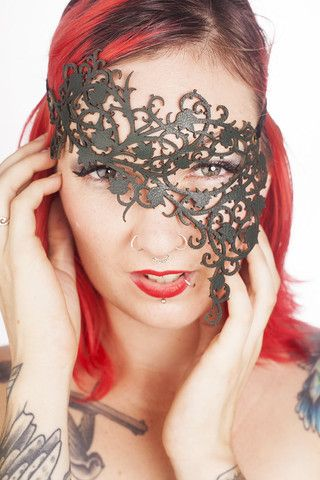 Poison Ivy Asymmetrical Mask. http://www.galleryserpentine.com/collections/dark-bondage-mad-max-mardi-grasfestival