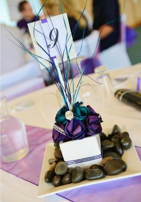Table centrepiece with table numbers.  www.flaxation.co.nz
