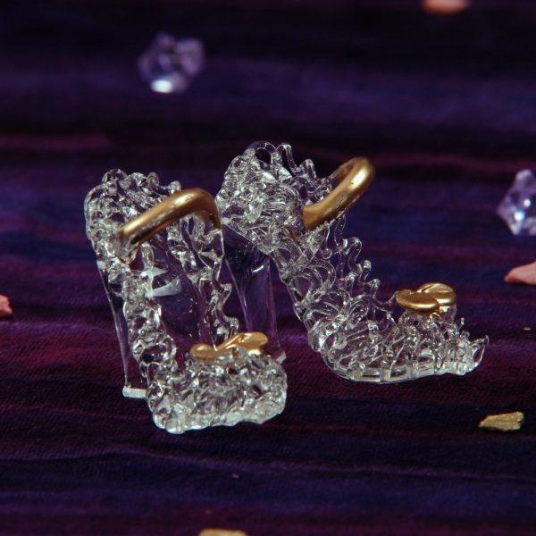 Marturie nunta pantofiori din cristal