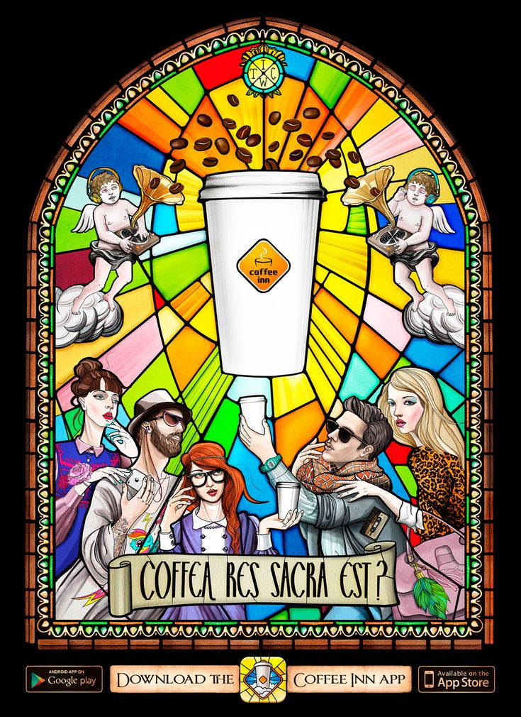 Coffee Inn: Coffee is sacredCoffe Inn, Blessed Coffe, La Coffe, Coffee Inn, Stained Coffe, Clever Advertis, Coffe Breaking, Aplikacija Coffeeinn, Coffeeinn Ads