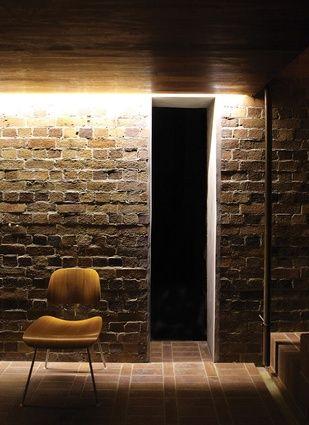 LED strip lighting with brick wall  Lights  Pinterest  Bricks