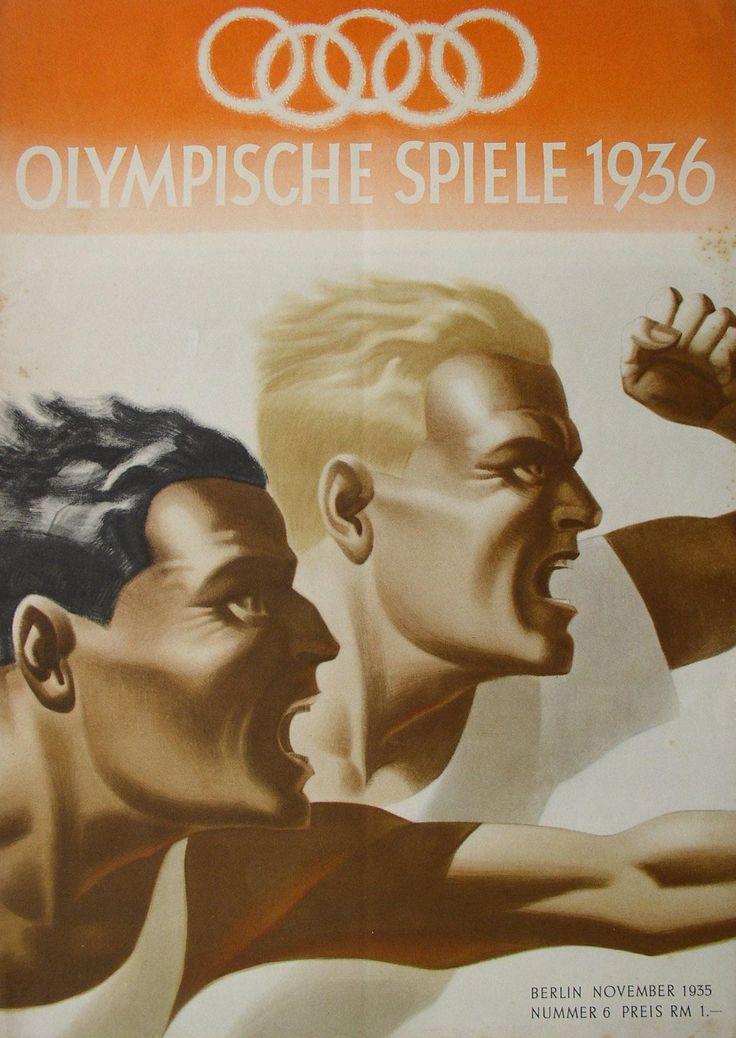 """Broschüre: """"Monatsheft des Propagandaausschusses für die Olympischen Spiele"""", 1936. Magazine about the Berlin Olympics in 1936."""