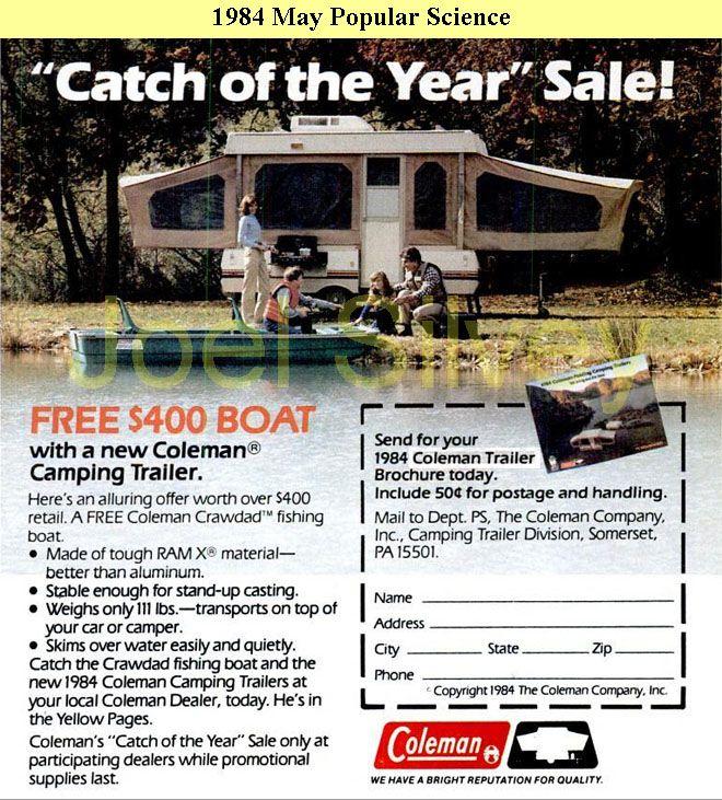 Pop-up Camper History - a picture of an original 1984 Coleman pop up camper :)