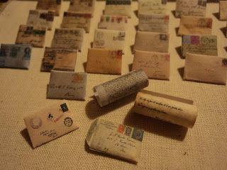 Las miniaturas y el vintage: Cartas Antiguas