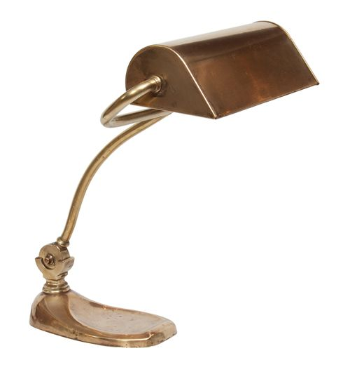 1920's Brass Bankers Lamp