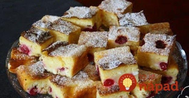 Lepší ako bublanina: Bleskový tvarohový koláč s čerešňami, podľa mojej svokry!