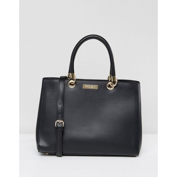Carvela Darla Tote Bag ($73) ❤ liked on Polyvore featuring bags, handbags, tote bags, black, genuine leather purse, leather tote bags, tote handbags, genuine leather tote and leather tote handbags