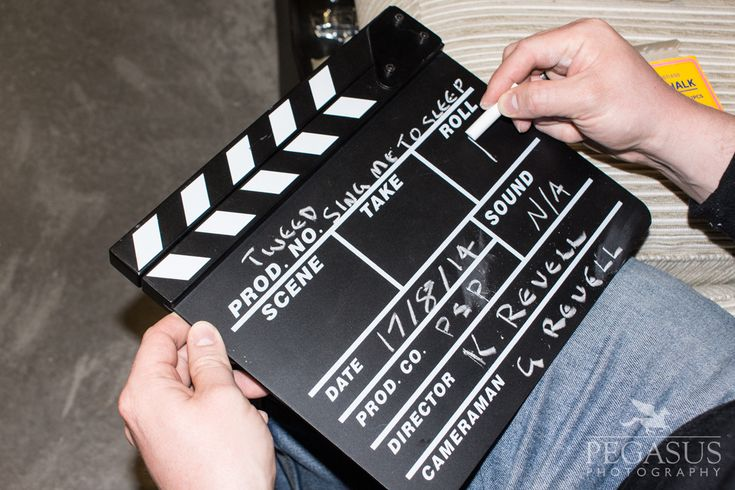 Lights, camera…. clapper board! Filming the music video for Tweed's Sing Me To Sleep