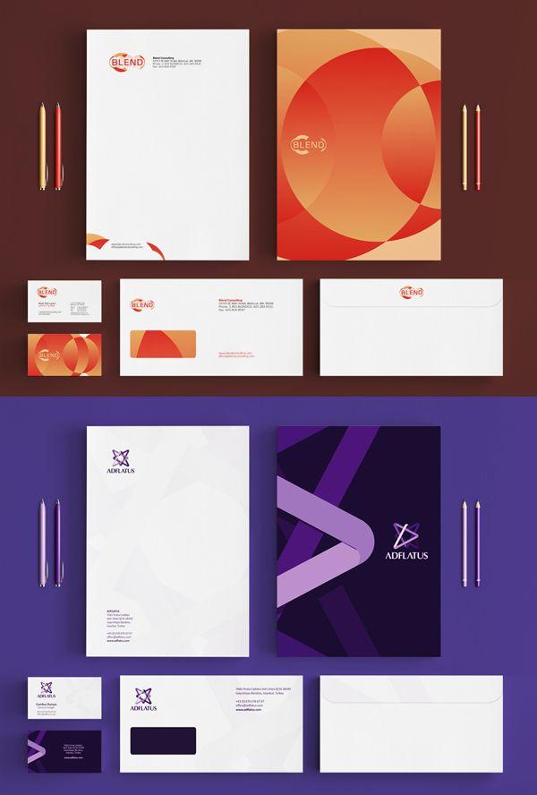239 best Design Stationary Sets images on Pinterest Corporate