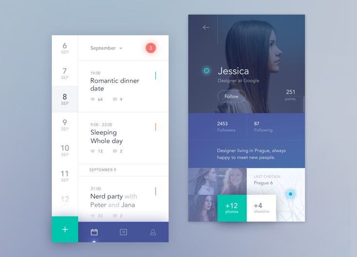 Social calendar app mobile by Jakub Antalík—The Best iPhone Device Mockups → store.ramotion.com