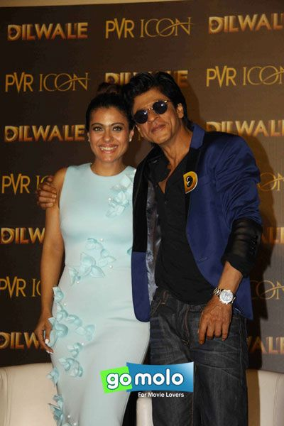 Kajol & Shah Rukh Khan at the Launch of 'Dilwale' song 'Manma Emotion  Jaage Re' at PVR ICON in Versova, Mumbai