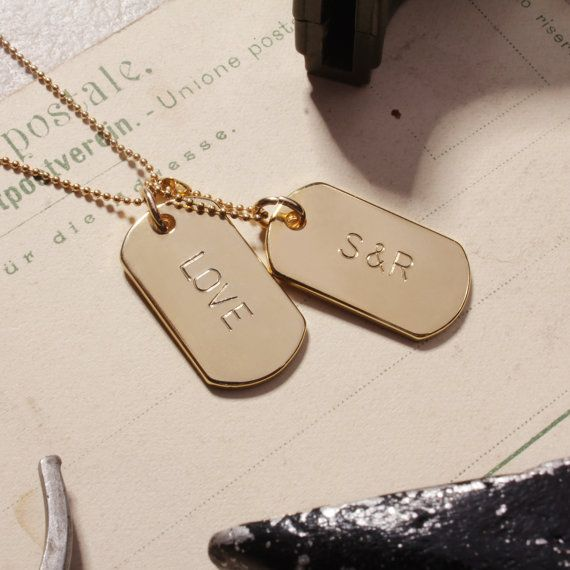 Gold Tags Personalized CUSTOM Gold Dog Tag by SoulAndLittleRose