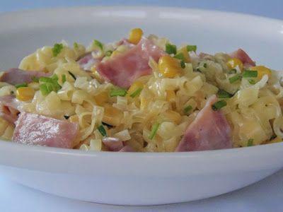 Sonkás, kukoricás wok tészta