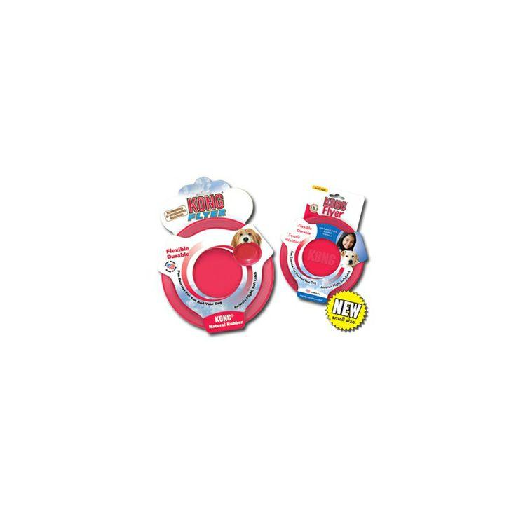 Este frisbee está hecho de la exclusiva goma natural super resistente de Kong y es el mejor disco volador para perros de goma flexible. Su vuelo preciso y agarre suave lo hacen ideal para jugar con tu amigo. Es excelente para una buena sesión de ejercicio y entretenimiento al aire libre.
