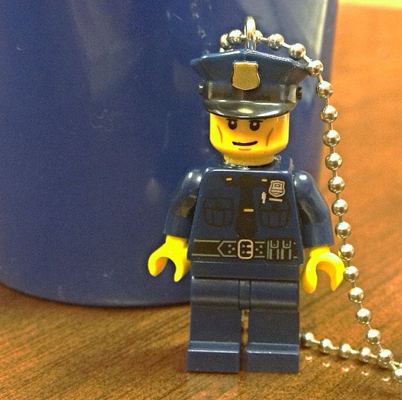 Police Officer Necklace  Lego Minifigure  by creativityismessy, $15.00
