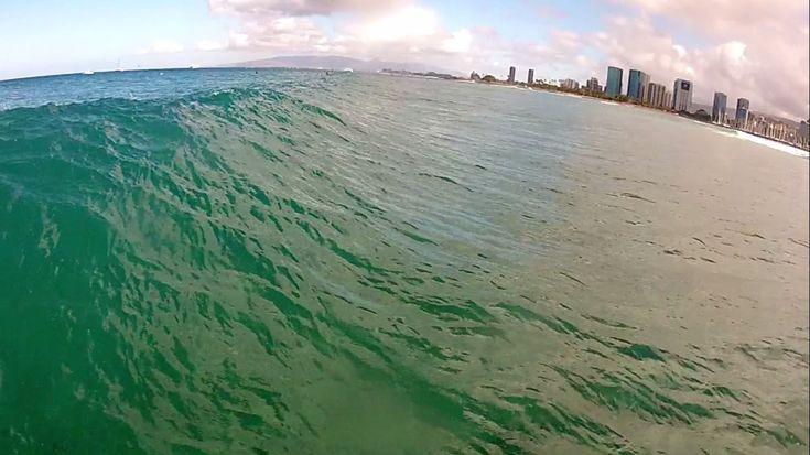 Surfing Waikiki - GoPro Head Cam Part 1
