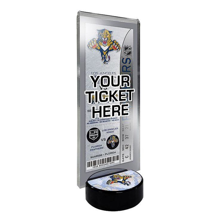 Florida Panthers Hockey Puck Ticket Display Stand, Multicolor