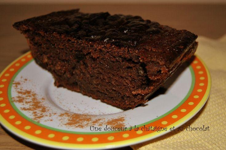 Cake à la châtaigne et au chocolat
