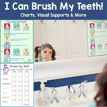 This visual step-by-step guide provides you with a fun way to give your child a healthy start and shining smile! Record your child's success on our weekly teeth brushing chart printable. Before your child begins using this I Can Brush My Teeth! chart, explain why it's so important to brush teeth morning and night (and ideally in between!) Point to each illustration while you demonstrate how to complete each step, with emphasis on the circular