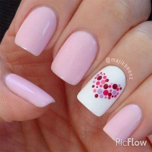 Nail art is never activity to be wiped out in the action of a woman because whenever she dresses up she brand to acrylic her nails accordingly. Now women don't go with a distinct attach apply rather they like some accidental patterns on their nails that go with their attire. Well actuality I accept beautiful Valentine's Day attach art designs