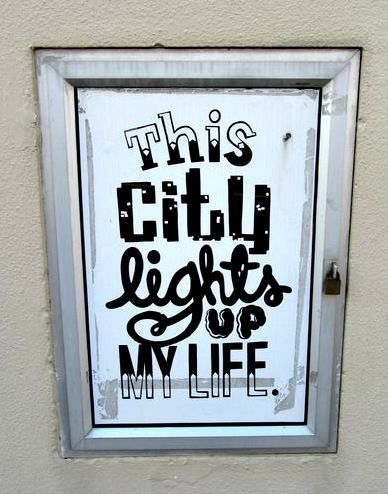 This city lights up my life