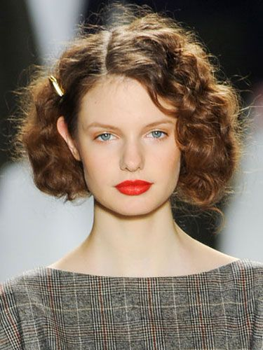 Wavy Curly Hairstyles - New York Fashion Week Fall 2012 Hairstyle Trends - Real Beauty