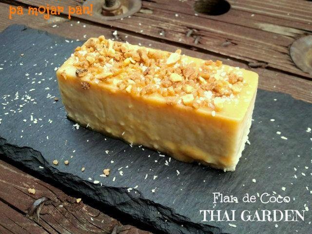 pa mojar pan!: Flan de coco THAI GARDEN
