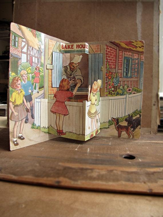 antique paper ephemera  pop up children's book